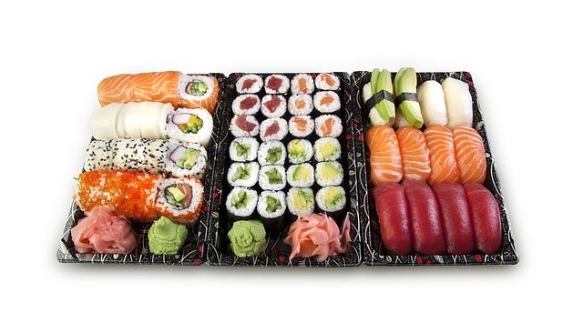 Sushis livrés depuis une épicerie japonaise