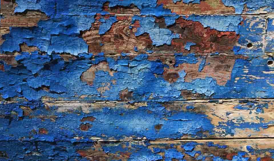 bois et de la peinture